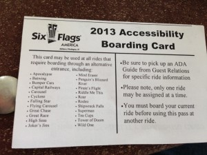 SFA - Accessibility Boarding Card 2013